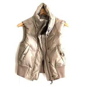 Express gold puffy vest
